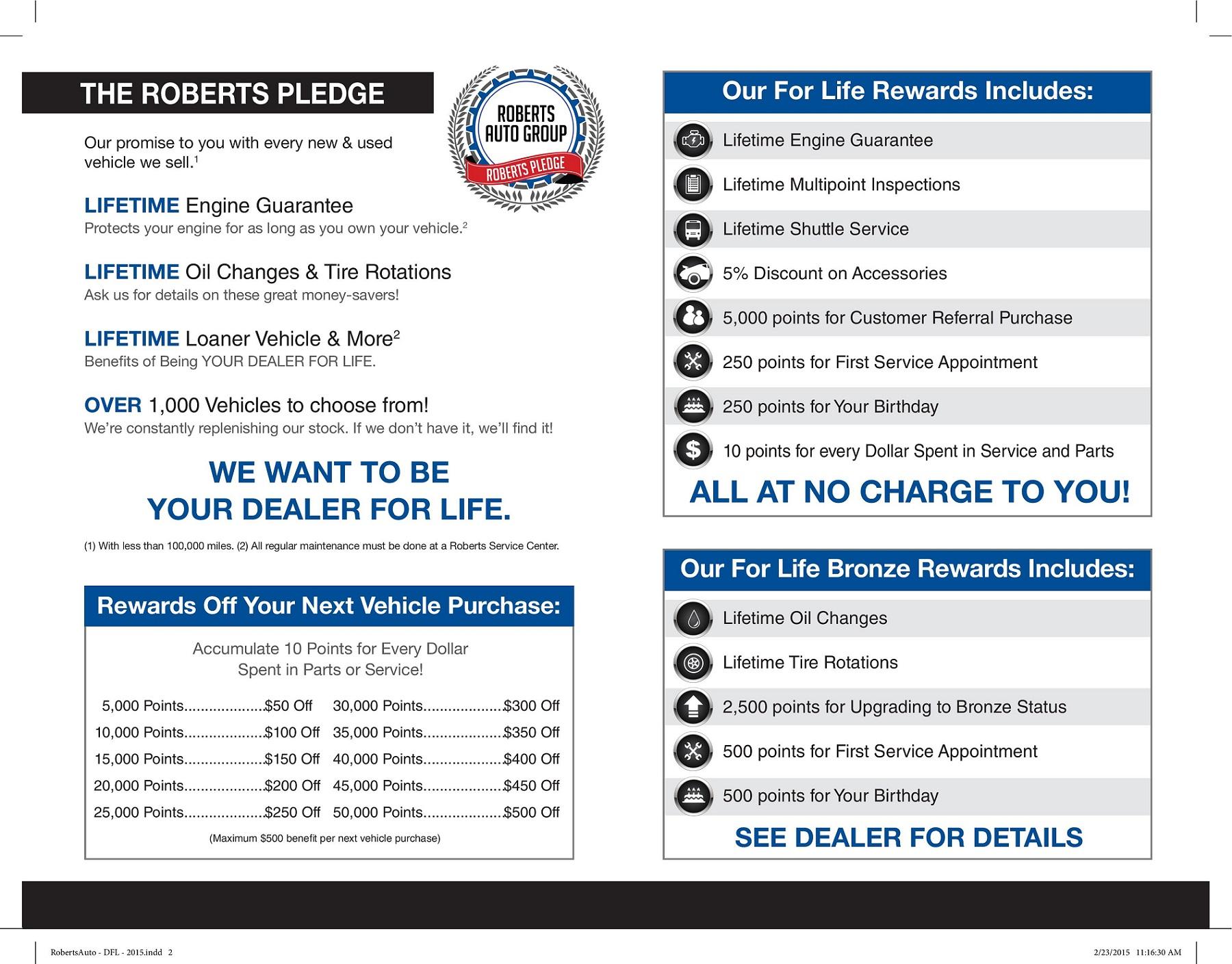 Rewards Roberts Auto Group