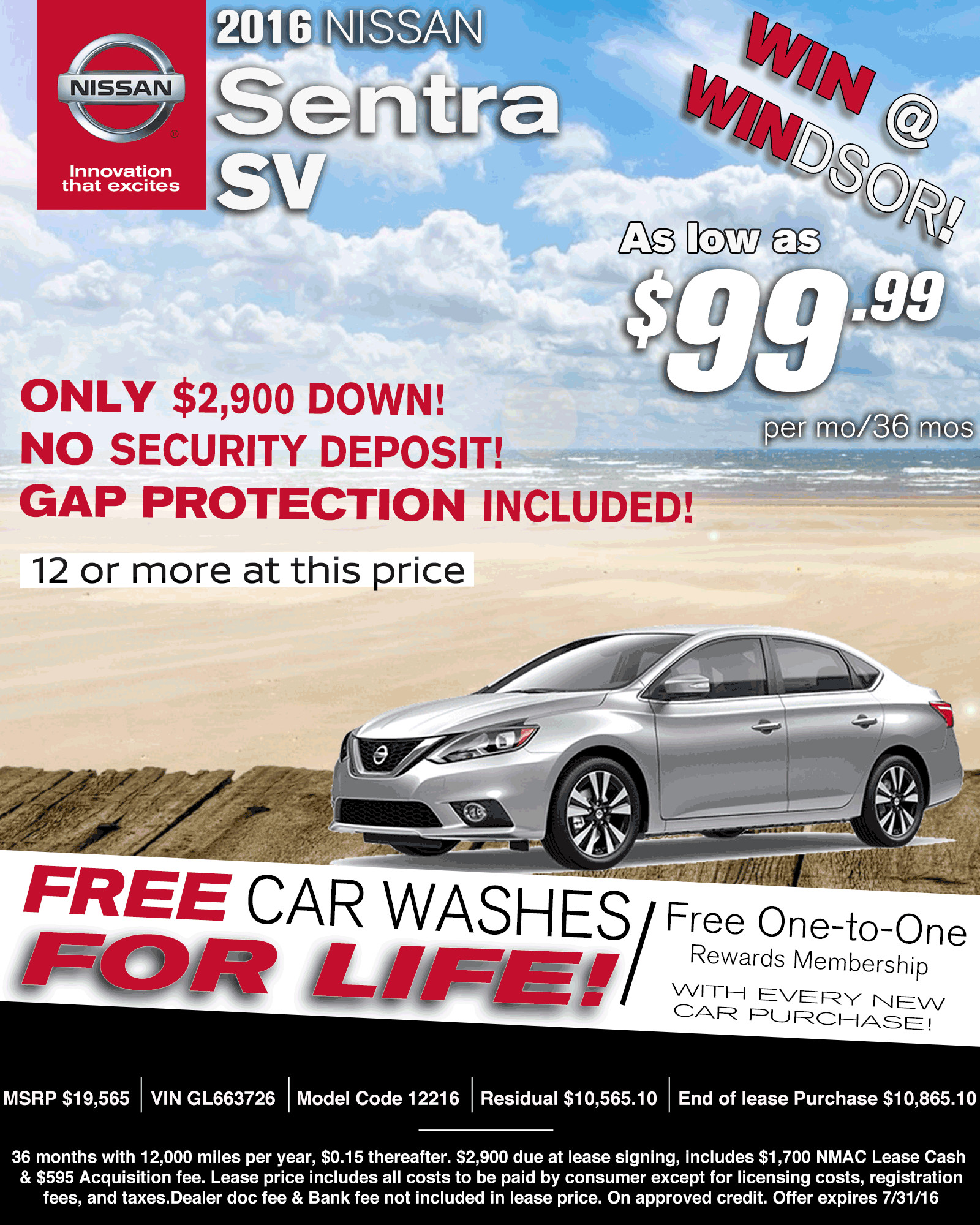 Nissan Monthly Lease Deals