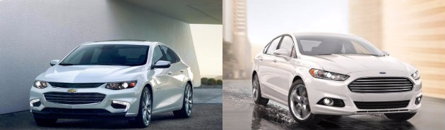 2016 Chevy Malibu vs Ford Fusion