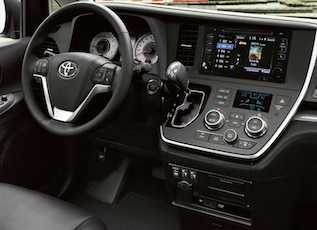 Interior of the 2016 Toyota Sienna