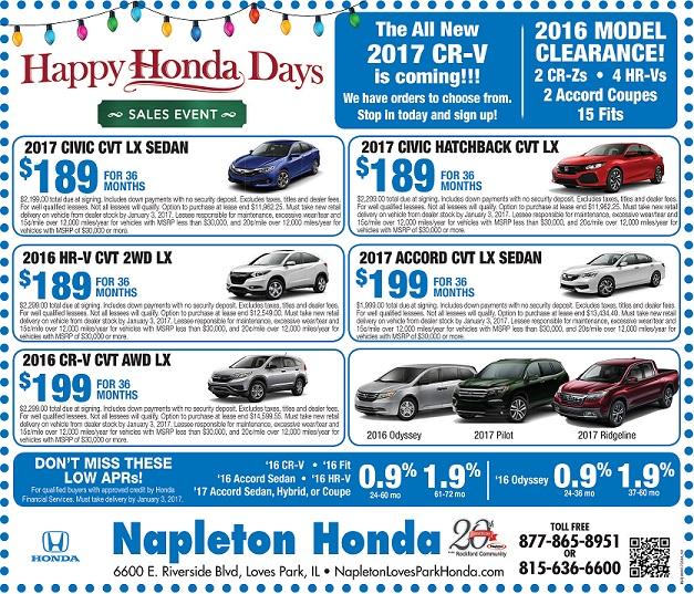 Monthly specials napleton 39 s honda for Napleton honda loves park il