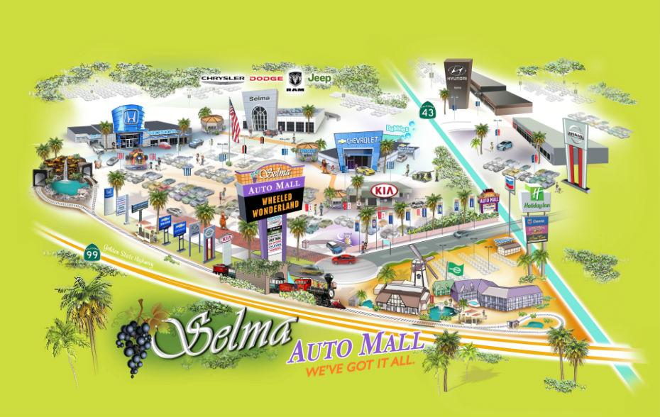Liberty Auto Sales >> 3D Map - Selma Auto Mall