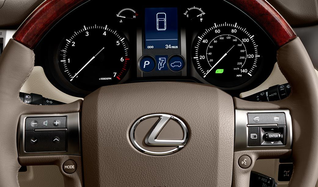 Lexus GX 460 Leather-wrapped Heated Steering Wheel
