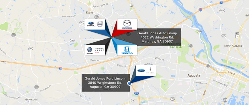 Gerald Jones Auto Group Locations