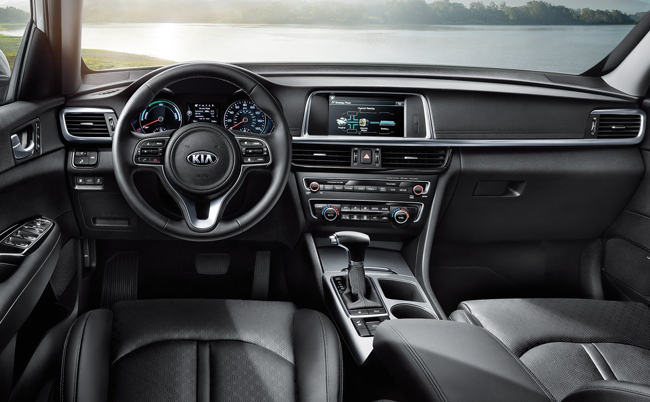 Interior of the 2017 Optima Hybrid