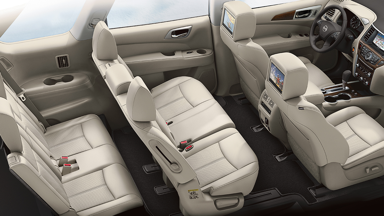 Room for your whole crew inside the nissan pathfinder