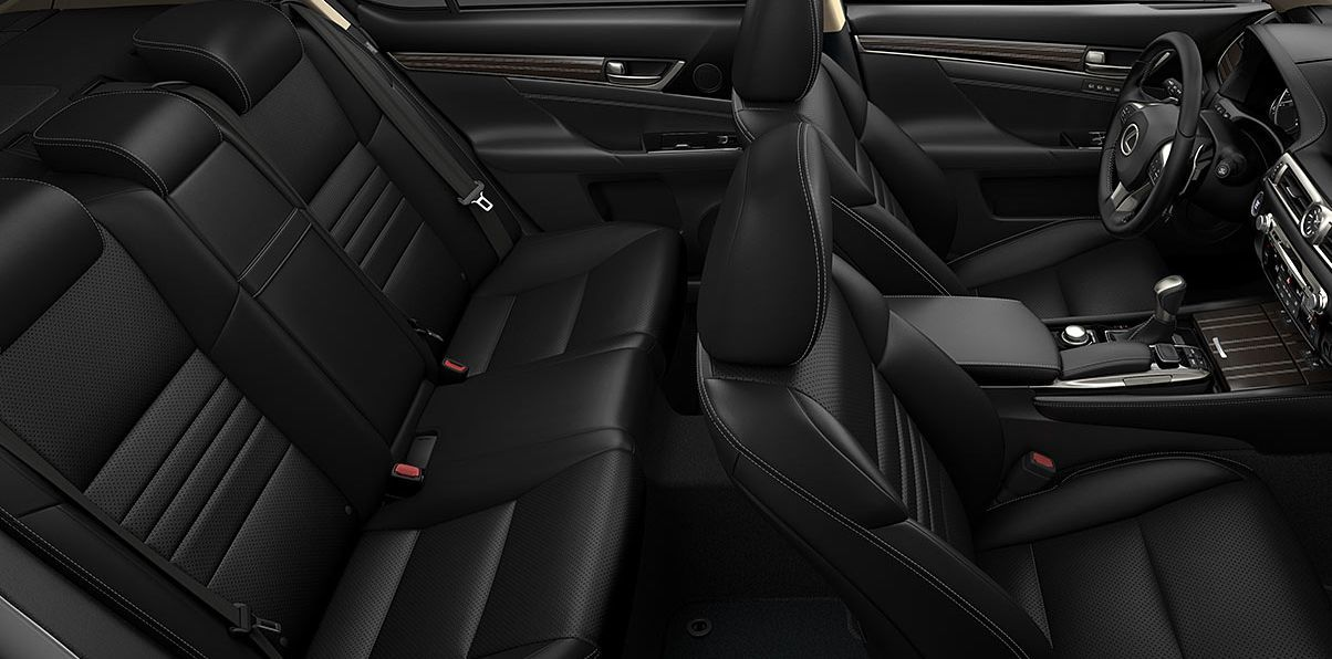 Spacious Interior is Also Festooned with Tech in the GS 350!